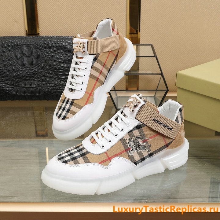 27.Burberry generous and comfortable flat shoes casual shoes men's shoes (9)