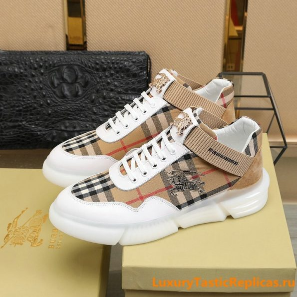 27.Burberry generous and comfortable flat shoes casual shoes men's shoes (4)
