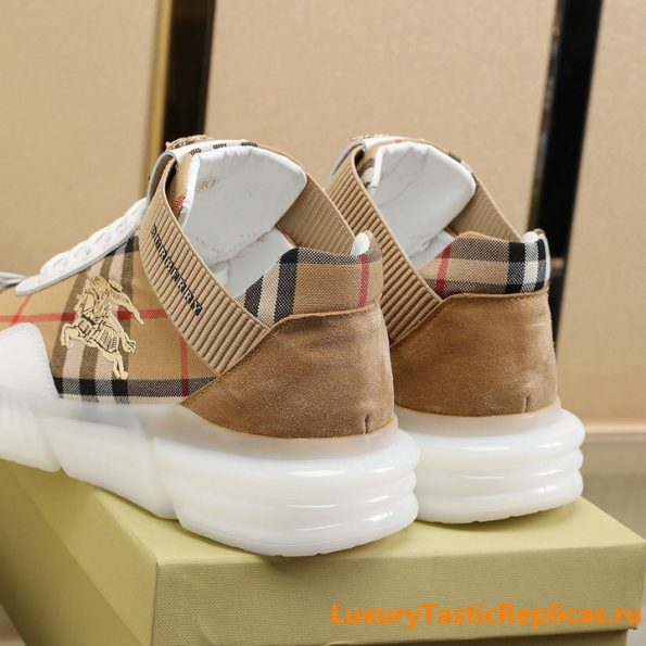 27.Burberry generous and comfortable flat shoes casual shoes men's shoes (5)