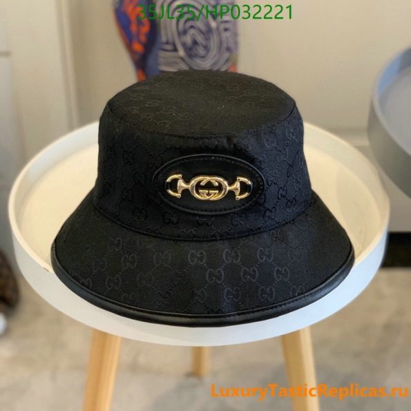 Gucci 2021 summer single-sided straw hat ladies Gucci printed cotton sunscreen fisherman hat (3)